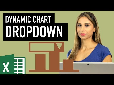 Excel Dynamic Chart with Drop down List (column graph with average line)