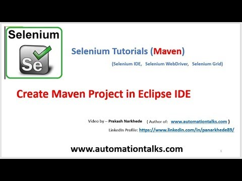 Maven video - How to create maven project in Eclipse IDE