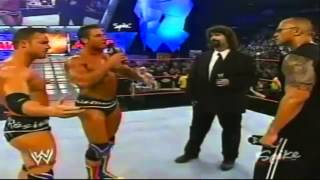 The Rock Returns to help Mick Foley (2003)