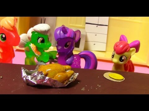 MLP Cooking Thanksgiving Turkey My Little Pony Twilight Fluttershy Apple Bloom
