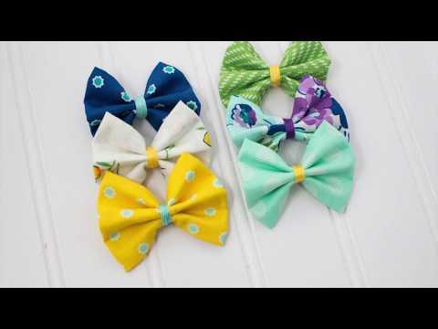 DIY No Sew Fabric Bow