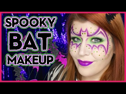 Easy Halloween Neon Bat Girl Mask Halloween Tutorial