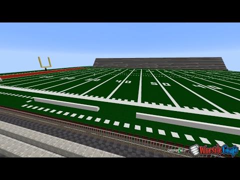 Football Stadium in Minecraft... WWE Arena + Backstage Building! (WrestleCraft)
