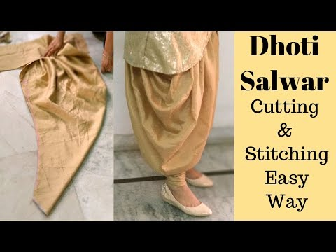 Dhoti Salwar Cutting and Stitching in Easy Way || Reet Designs