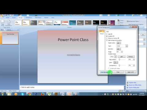 How To Change Background Theme In MS Power point 2007 #Lesson 3