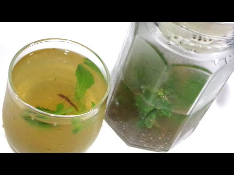 Fast Weight loss ICE GREEN TEA with CHIA SEEDS   Healthy flat tummy drink