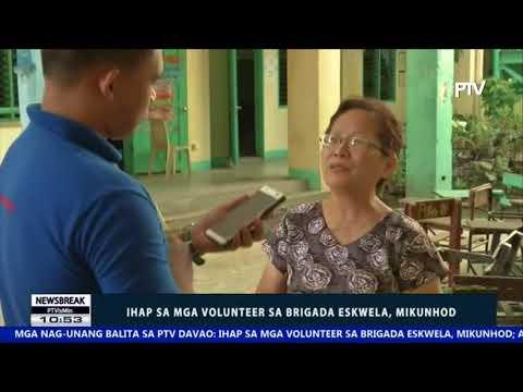 NEWS BREAK: Ihap sa mga volunteer sa Brigada Eskwela, mikunhod