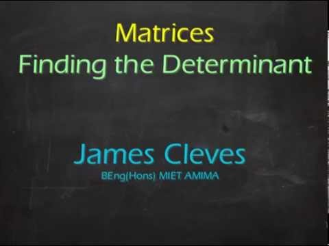 Maths4Engineers - Matrices - Finding the Determinant of a 2x2 Matrix