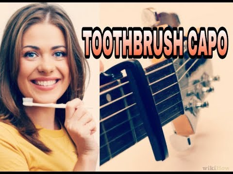 how to make a toothbrush guitar capo at home