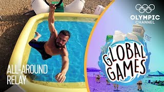 All-Around Relay - Olympians vs Influencers | The Global Games