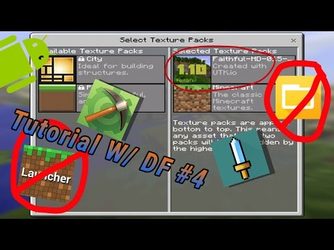 Minecraft PE | Custom Texture Packs in MCPE (No File Manager, No Blocklauncher) | Tutorial W/ DF