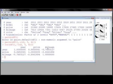 R - Exploring Data (part 5) - Multivariate Summaries