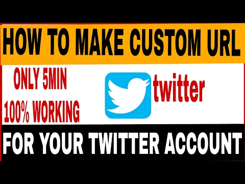 How to make custom url for twitter account.