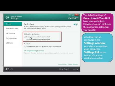 How to configure settings in Kaspersky Anti-Virus 2014