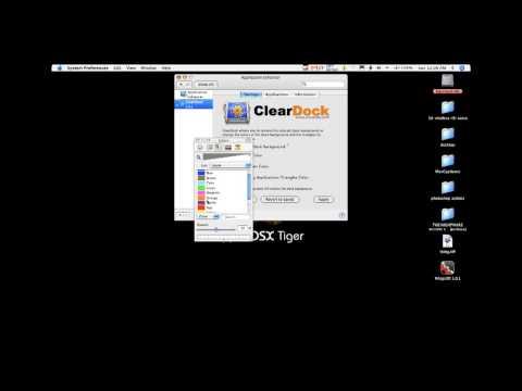 Change Mac Dock Color on Tiger