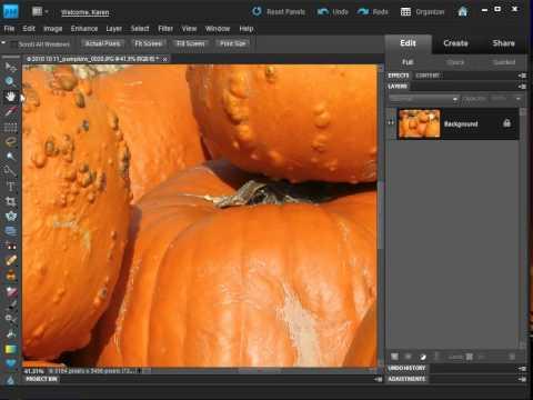 Photoshop Elements - Resize an image