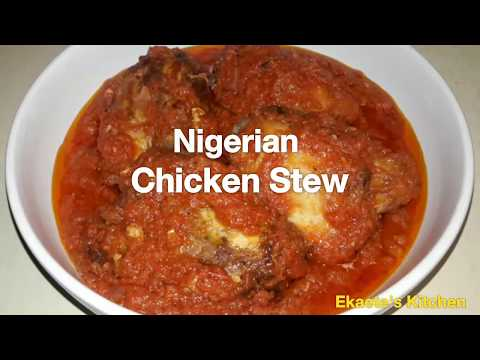 Nigerian Chicken Stew - no canned tomato products