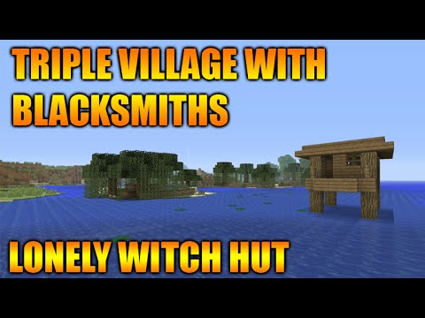 ★Minecraft Xbox 360 + PS3 Epic Seed Lonely Witch Hut + Triple Village At Spawn Seed Showcase★