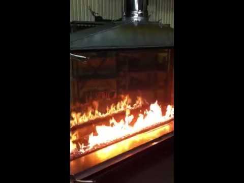 Custom Indoor Outdoor Gas Fireplace