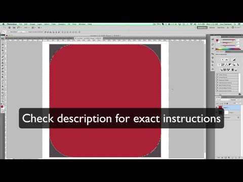 How to create a rectangle with rounded corners shape in Photoshop