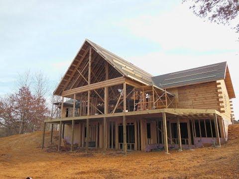 Building a log home part 7 full logs