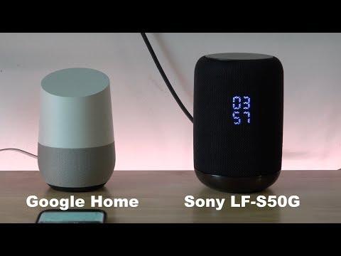 Google Home vs Sony LF-S50G Smart Speaker