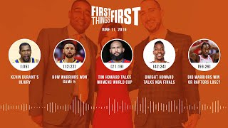 First Things First audio podcast(6.11.19)Cris Carter, Nick Wright, Jenna Wolfe   FIRST THINGS FIRST