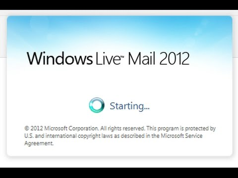 Windows Live Mail 2012 - Update Folder List, Repair