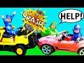 PJ Masks NIGHT NINJA TROUBLE Crashes CAR Catboy Gekko Get Catboy Car Back To PJ Masks HQ