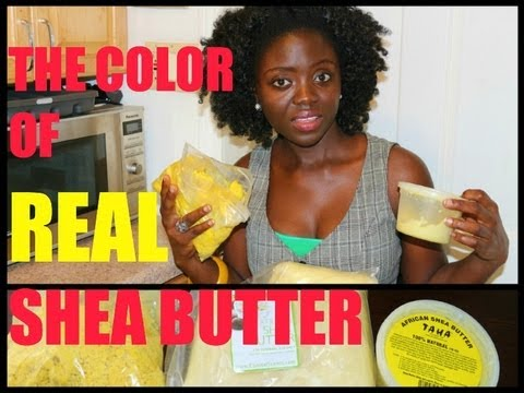 The COLOR of REAL & RAW SHEA BUTTER !!!