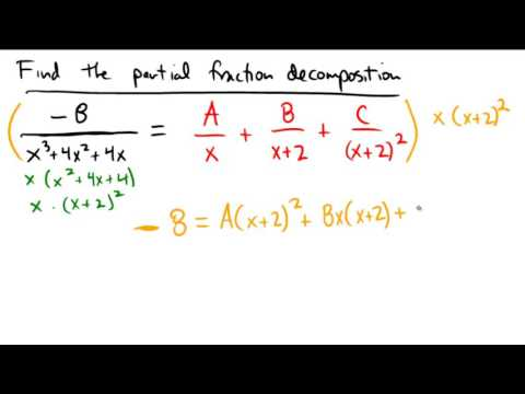 Finding partial fraction decomposition with some factors are repeated