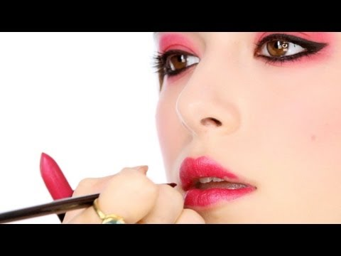 Red Eye Shadow - Editorial/ Runway Inspired Makeup Tutorial