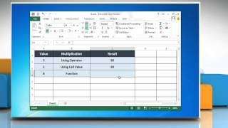 How To Multiply In Excel 2013