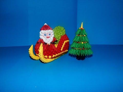 3D Origami small Christmas tree tutorial || DIY paper small Christmas tree