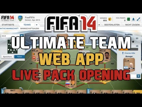 FIFA 14 Ultimate Team : Web App Start + Live Pack Opening [FACECAM] HD