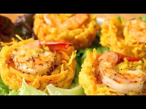 Banh Tom | Shrimp & Sweet Potato Fritters | Kakiage | Ukoy | Okoy | Cách làm Bánh Tôm Chiên