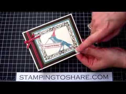 Stampin' Up! Papaya Collage Birthday Card