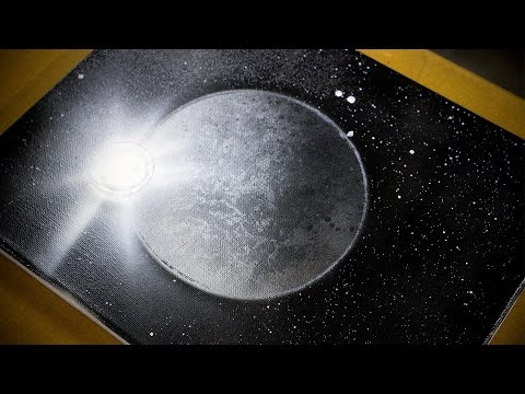 Making A Moon: Super Fast Spray Paint Art Tutorial
