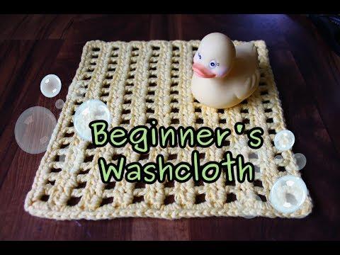 Beginner's Washcloth (Crochet Tutorial)