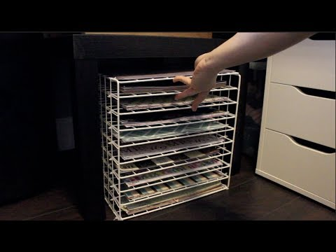 TUTORIAL 12x12 scrapbook paper storage using wire racks