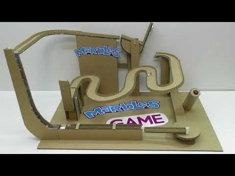 How to make a Marble run with lift from Cardboard Board Game Marble Labyrinth with lift