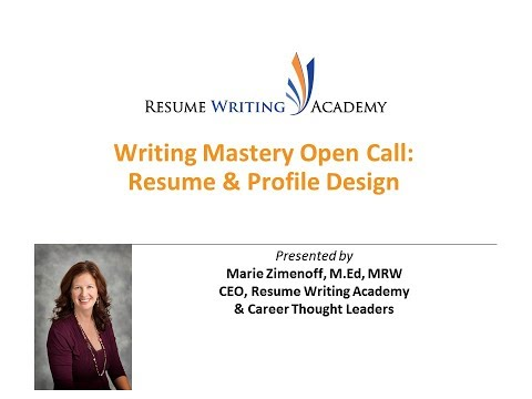 Writing Mastery Open Call: Designing Resumes and Profiles