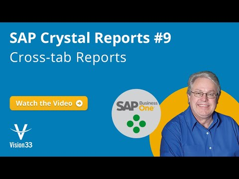 SAP Crystal Reports: Cross-Tab Reports (Jan 2017)