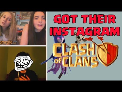 Getting CLASH GIRL'S INSTAGRAM | Omegle FUNNY TROLL TIME | SchoolOfClash The Witch HUT CoC UPDATE