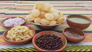 Golgappa Recipe | Pani Puri Recipe | How To Make Pani Puri At Home | Village Food Secrets
