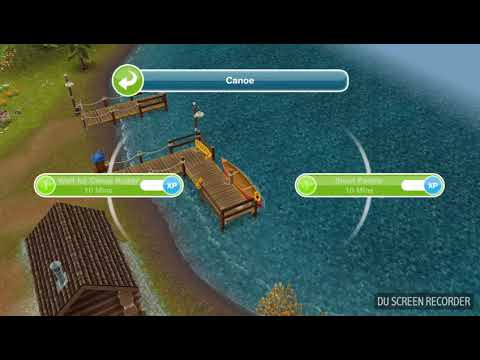 The Sims Freeplay - Have a Short Paddle in a Canoe -  Weekly Task