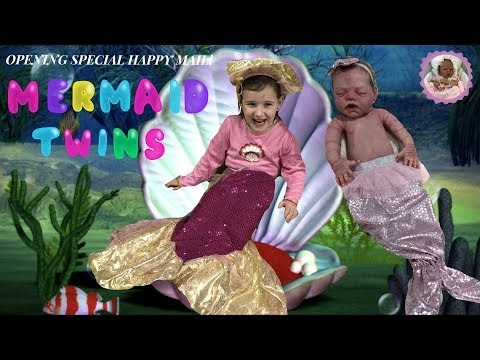 MERMAID TWINS! ALIYAH OPENS SPECIAL HAPPY MAIL WITH REBORN PETER AND FULL BODY SILICONE BABY EMMA
