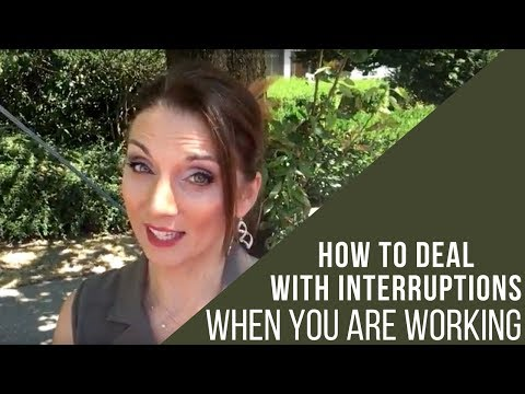 How To Deal With Interruptions While You Are Working