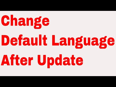 How to change default language in windows 10 after latest Update