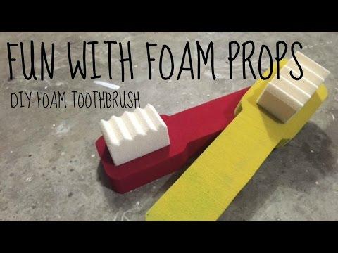 JWF-Foam Toothbrush Prop